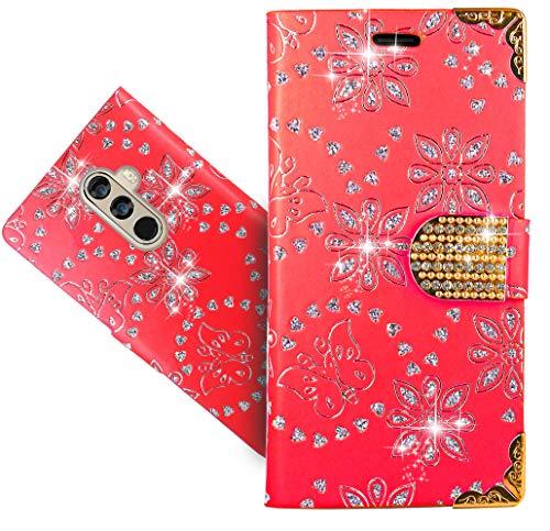 DOOGEE Mix 2 Handy Tasche, FoneExpert Wallet Case Cover Bling Diamond Hüllen Etui Hülle Ledertasche Lederhülle Schutzhülle Für DOOGEE Mix 2