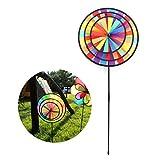 Guoyy Molino de viento de arco iris colorido molino de viento lindo de dibujos animados animal ganador de juguete para niños