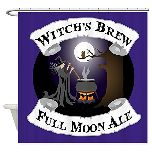 Blue Witch's Brew Full Moon Ale Shower Curtain