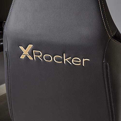 X Rocker Agility, Sedia da Gioco Unisex-Adulto, Nero/Oro