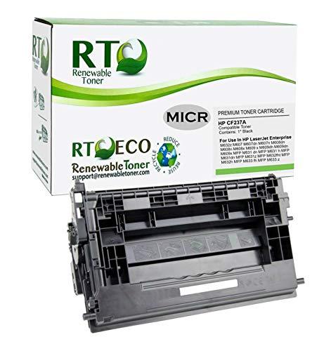 Renewable Toner Compatible MICR Toner Cartridge Replacement for HP 37A CF237A Laserjet Enterprise M607 M608 M609 M631 M632 M633�