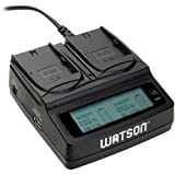 Watson Duo LCD Charger with Two LP-E6 / LP-E6N Battery Plates