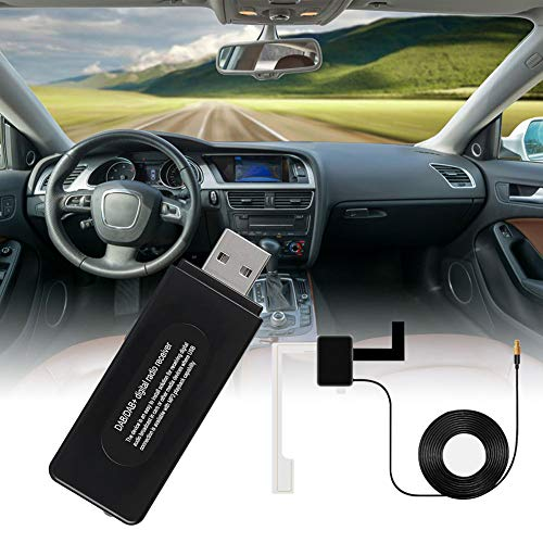 Lovejoy Store DAB/DAB + Empfänger, Universal Auto Fahrzeug Autoradios Adapter USB DAB Digital Broadcasting FM Transmitter Radio Receiver