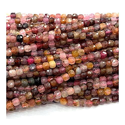 DFUF Hermoso Regalo Colorido espinela Collar Natural Pulseras Pendientes Anillo Facetado Cubo Irregular Pequeñas Cuentas para Mujer para la fabricación de joyería