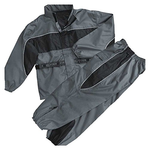 NexGen Men's Rain Suit (Black/Grey, 5X-Large)