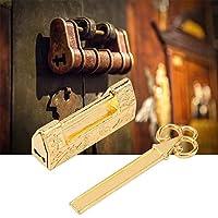 南京錠、アンティークロック、彫刻花鳥ヴィンテージ南京錠、引き出し用ジュエリーボックスの耐久性(Magpie golden)