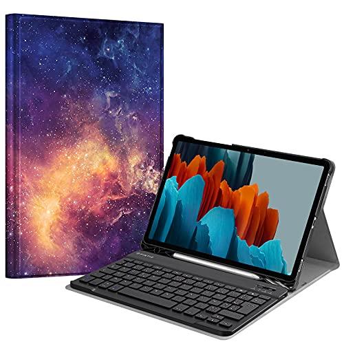 FINTIE Funda de Teclado para Samsung Galaxy Tab S7 11' 2020 (SM-T870/T875), (French AZERTY) Galaxy