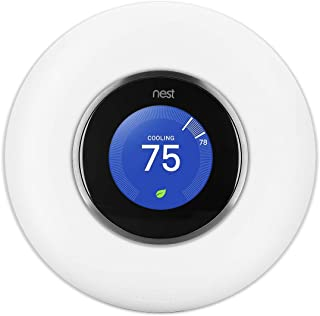 Wallandplate Wall Plate Cover Compatible for Nest Learning Thermostat 1st, 2nd, 3rd Generation (Not Compatible with Nest E) [Matte White]