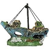 BAN SHUI JU MINSU GUANLI Adorno De Acuario Casero De Resina Adorno De Acuario De Barco Hundido Naufragio Decoración de Acuarios y Peceras (Color : 01)