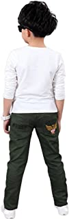 Rakkiss Kids Pants Fashion Child Boys Pants Embroidery Solid Pants Trousers Outfits Clothes
