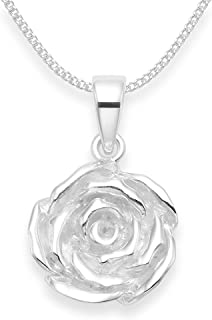 The Olivia Collection TOC Sterling Silver Red Crystal Cut Out Heart Pendant on 18 Inch Chain