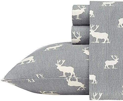 Eddie Bauer 216298 Elk Grove Flannel Sheet Set, King