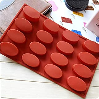 1 piece 16 Holes Oval Silikon Form Moldes De Silicona Para Fondant Pasteleria Y Reposteria Silicone