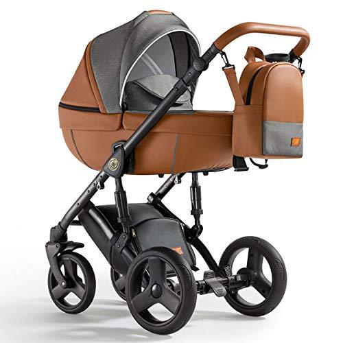 Krausman Kinderwagen 3 in 1 Nexxo Caramel Kombikinderwagen Babyschale Babywanne Sportwagen