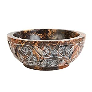 """Soapstone Smudge Bowl for Scrying - 5""""x 2"""" - Incense Burner, Wiccan Rituals, Divination"""