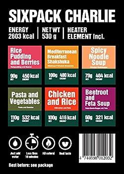 Pack de 6 Repas Sixpack Charlie (2 petits-déjeuners, 2 soupes, 2 plats)