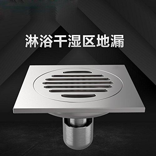 SDKKY le cuivre de désodorisation des drains de plancher salle de bains douches d'eau drains de plancher de machine à laver la base carrée,un