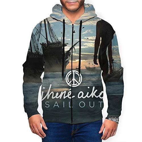 Jhene Aiko Sail Out Mans Hoodies Pullover Long Sleeve Sweatshirt Print Hoody Winter Warm Full Zip Hood Jacket Tops Hooded Outwear Coats Xx-Large Black