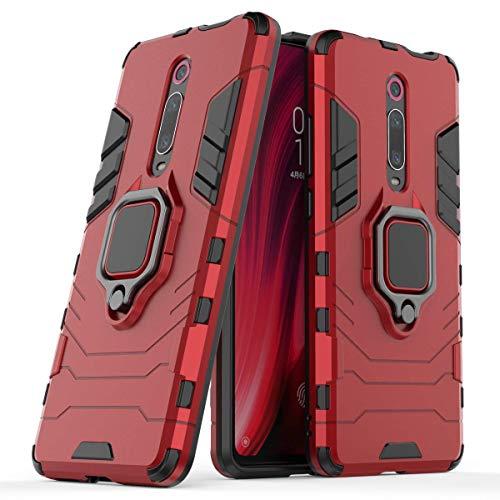 """Max Power Digital Funda para Xiaomi Mi 9T / Xiaomi Mi 9T Pro (6.39"""") con Soporte Anillo Metálico - Carcasa Híbrida Antigolpes Resistente (Xiaomi Mi 9T, Rojo)"""