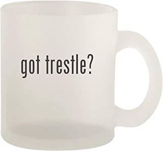 got trestle? - Glass 10oz Frosted Coffee Mug