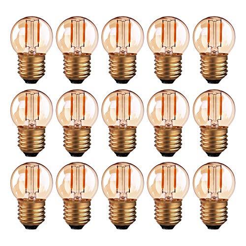 Hcnew G40 E27 LED Retro Edison Bombilla de filamento Mini Globo 1W...