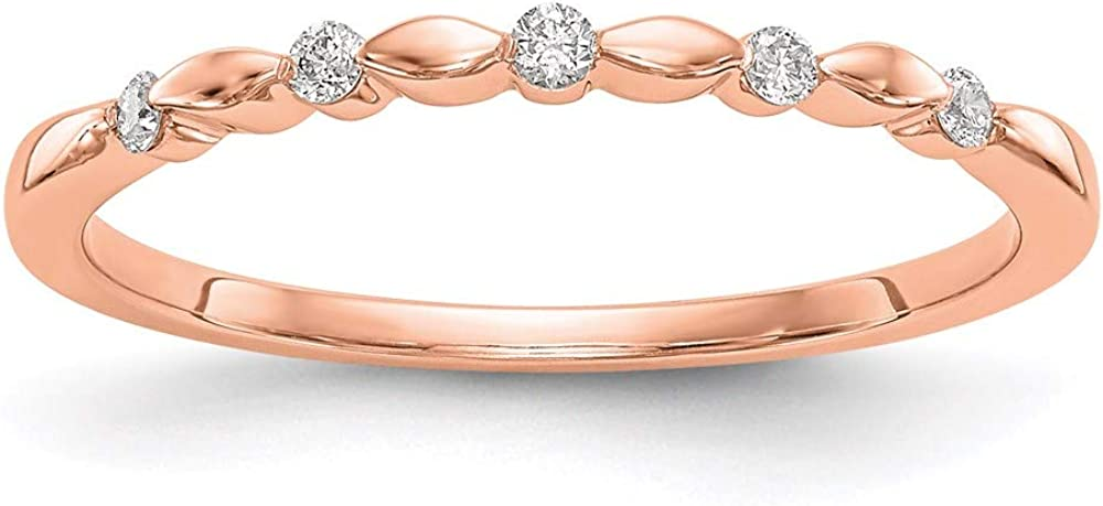 14k Rose Gold Diamond Wedding 7 Ring Ranking TOP9 Size Band Recommended