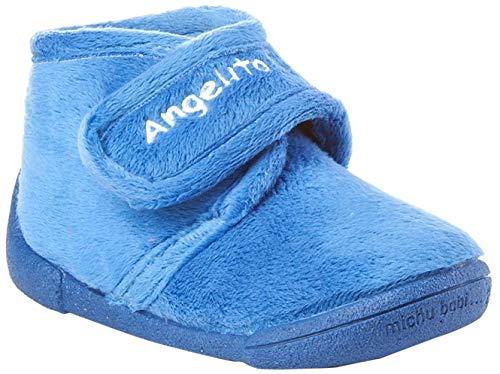 Zapatillas de estar por Casa para Niños y Niñas mod.130. Calzado Infantil Made in Spain, Garantia de Calidad. (24, Azul)