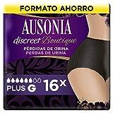 AUSONIA Discreet Boutique Mutandine per perdite di urina L nere, bloccano odori e...