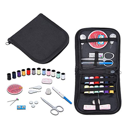 Mini Travel Sewing Kits, elloLife Small Basic Sewing Pack Supplies Accessories for Kid Children Adult Beginners for Home Travel Emergency with Needle Thread Mending Needles Scissors Thimble etc