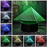 Luces nocturnas Musee du Louvre Luxury 3D Pyramid USB LED Night Light 7 colores cambian Navidad Touch Kid Dormitorio Mesa Escritorio Lámpara de regalo