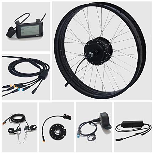 TZIPower Fat Bike Umbausatz E Bike 26 Zoll x3.0 Hinterrad Heck 48V 500Watt 500W E-Bike Kit Pedelec Elektrofahrrad Fat Kit