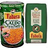 Lote 1kg arroz especial paella La Fallera + 600ml Caldo Carne y Verdura