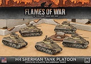Flames of War 4th Edition United States M4 Sherman Tank Platoon (Plastic) UBX55