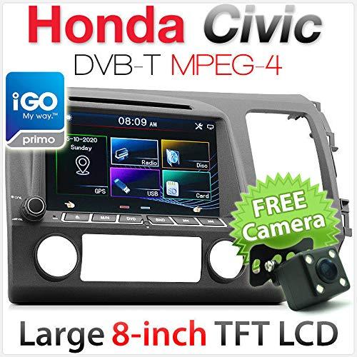 Tunez 20,3 cm Civic Auto DVD GPS DVB-T Player Stereo Radio Head Unit Digital TV MPEG-4 …