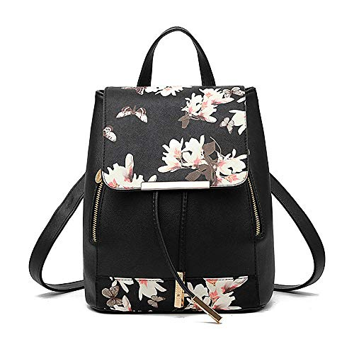 Tibes Small Daypack Casual Waterproof Backpack for Women/Girls Black 2
