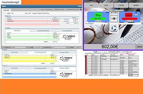 PROF-EA 2.0w Haushaltsbuch Kassenbuch Einnahmen Ausgaben Geld Finanzen Software Haushaltsbücher Kassenbücher Gelder verwalten Sparbuch für Windows Apple macOS