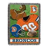 NORTHWEST NFL Denver Broncos Woven Tapestry Throw Blanket, 48' x 60', Vintage