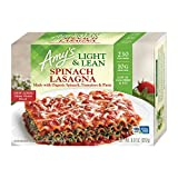 Amy's Frozen Light & Lean Spinach Lasagna, Non-GMO, 8 oz.