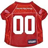 Detroit Red Wingsプレミアム犬ペット代替Hockey Jersey w /名前タグLarge