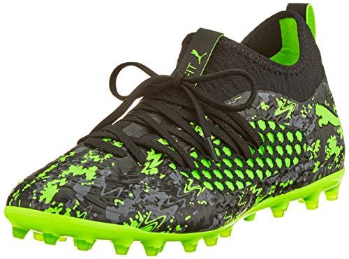 Puma Herren Future 19.3 Netfit MG Fußballschuhe, Schwarz Black-Charcoal Gray-Green Gecko, 44.5 EU