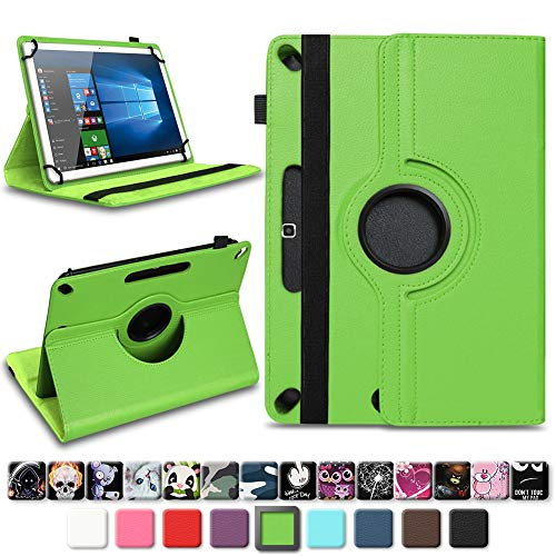 NAmobile Tablet Tasche für Wortmann Terra PAD 1005 Hülle hochwertiges Kunstleder mit Standfunktion 360° Drehbar Universal 10.1 Zoll Cover, Farben:Grün