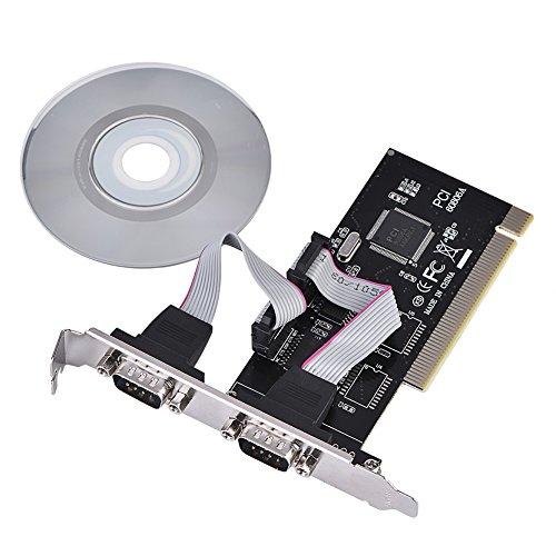 Richer-R PCI Schnittstellenkarte Seriell 2 x RS232, PCI zu Dual Serial DB9 RS232 RS-232 Schnittstellen 2 Port Erweiterung Adapterkarte,Unterstützt WINDOWS 2000/2003/XP Desktops