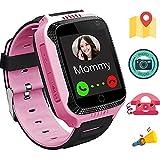 Winnes Reloj Inteligente Niño, Reloj Smartwatch Niños Niña GPS Soporte GPS + LBS de Doble Posicionamiento Geo-Cerca/intercomunicador de Voz Reloj Phone para niño (M05 Rosa)