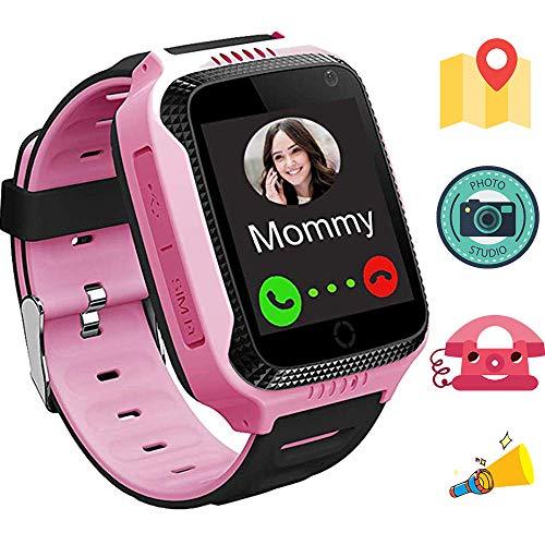 1.44 pollici touch Kids GPS Tracker Smart Watch con la macchina fotografica sim chiamata anti-perdido SOS braccialetto Monitor torcia Orologio digitale fotocamera integrata Tracker GPS M05 Rosa
