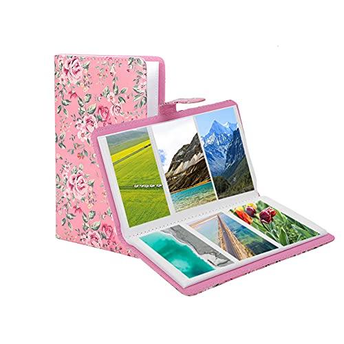 Album Photo Instax, 96 Poches Mini Livre de Rangement pour Album de 3 Pouces pour Instax Mini 11/8/9/7s/25/70/90, Organisateur de Porte-Cartes de Visite(Rose)