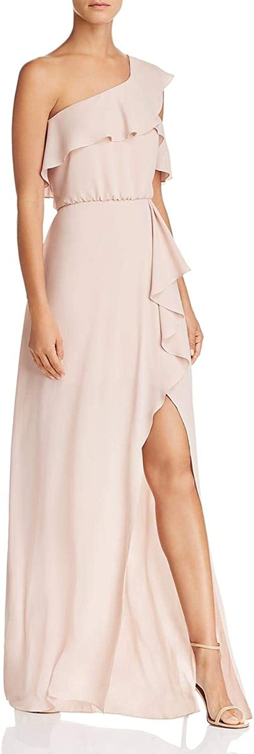 BCBG Max Azria Womens Maud One Shoulder FullLength Evening Dress