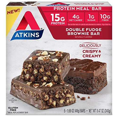 Atkins Atkins Meal Bar Double Fudge Brownie, 5 Count from AmazonUs/ATKC7