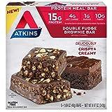 Atkins Atkins Meal Bar Double Fudge Brownie, 5 Count