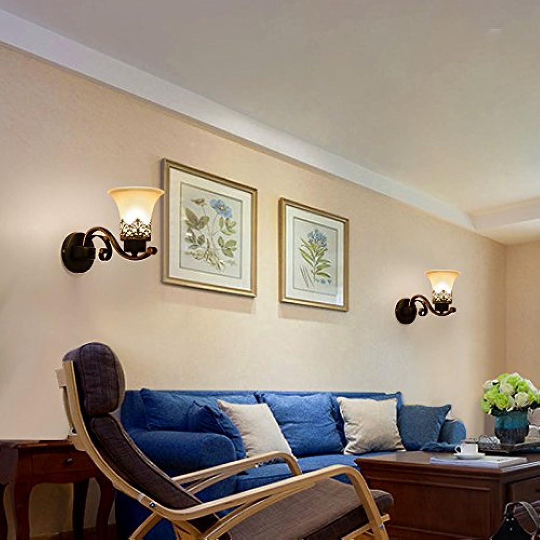 YU-K Moderne Wandleuchte LED Wandleuchte ideal für Bar Restaurant Cafe Wohnzimmer Schlafzimmer Flur Balkon, einem Kopf