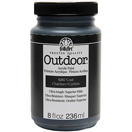 FolkArt Outdoor Paint in Assorted Colors (8 oz), 6267 Coal